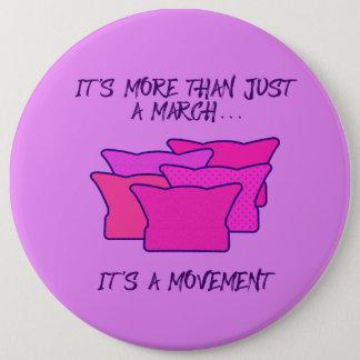 Chapa Redonda De 15 Cm Marzo de las mujeres, gorra rosado, movimiento