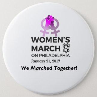 Chapa Redonda De 15 Cm Marzo Philly de las mujeres nosotros marzo en el