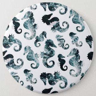 Chapa Redonda De 15 Cm Modelo abstracto de los seahorses de la aguamarina