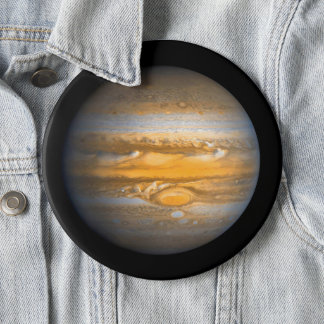 Chapa Redonda De 15 Cm Ojo del planeta de Júpiter del jumbo del espacio