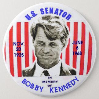 Chapa Redonda De 15 Cm Pinback del monumento de Bobby Kennedy