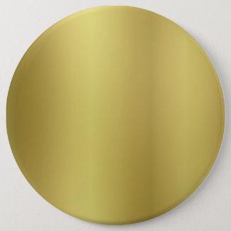 Chapa Redonda De 15 Cm Plantilla en blanco del oro