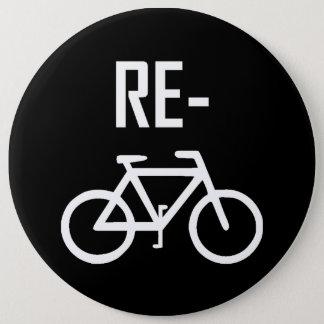Chapa Redonda De 15 Cm Recicle la bici de la bicicleta