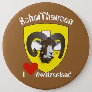 Chapa Redonda De 15 Cm Schaffhausen Suiza Button