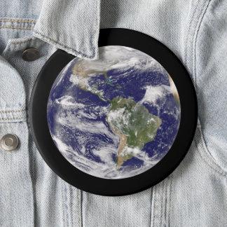 Chapa Redonda De 15 Cm Tierra enorme del planeta de la fotografía del