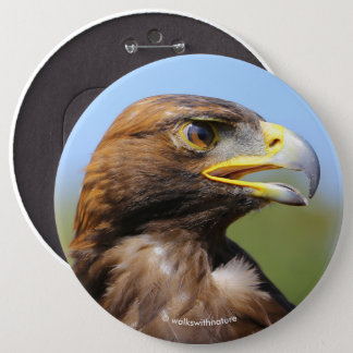 Chapa Redonda De 15 Cm Vision de Eagle de oro joven hermoso