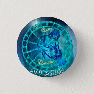 Chapa Redonda De 2,5 Cm Acuario el horóscopo del portador del agua