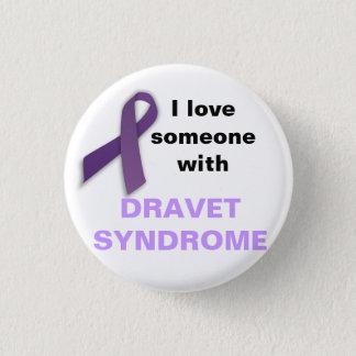 Chapa Redonda De 2,5 Cm Amo alguien con el síndrome de Dravet