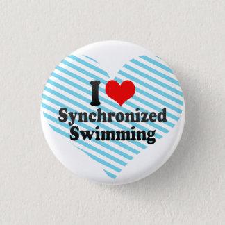 Chapa Redonda De 2,5 Cm Amo la natación sincronizada