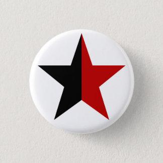 Chapa Redonda De 2,5 Cm Anarchy estrella Clásica (negro/rojo)