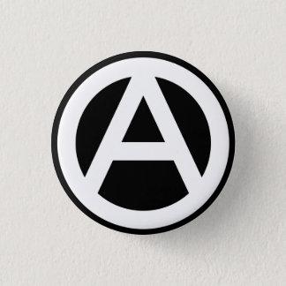 Chapa Redonda De 2,5 Cm Anarchy símbolo Clásico (fondo negro)