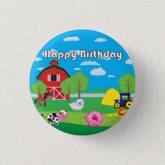 Chapa Redonda De 2,5 Cm Animal del corral - granja - fiesta de cumpleaños