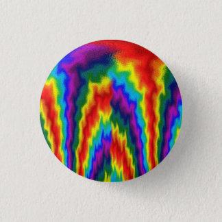 Chapa Redonda De 2,5 Cm Arco iris llameante