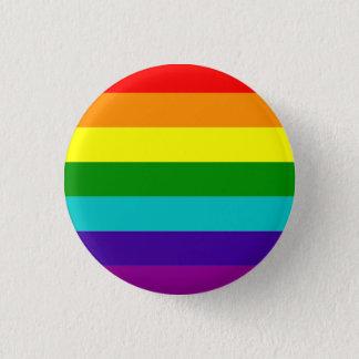Chapa Redonda De 2,5 Cm Bandera clásica del orgullo (con ciánico)