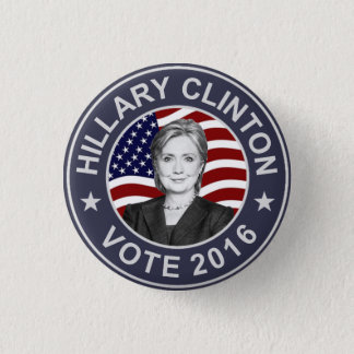 Chapa Redonda De 2,5 Cm Bandera de Hillary Clinton los E.E.U.U.