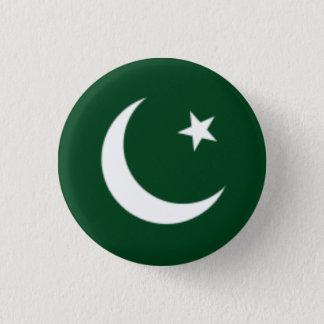 Chapa Redonda De 2,5 Cm Bandera de Paquistán