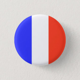 Chapa Redonda De 2,5 Cm Bandera francesa