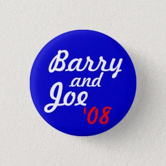 Chapa Redonda De 2,5 Cm Barry y Joe '08 - modificado para requisitos