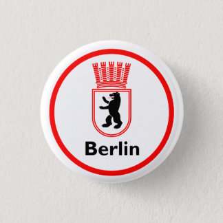 Chapa Redonda De 2,5 Cm Berlinés Stadtwappen (DDR)