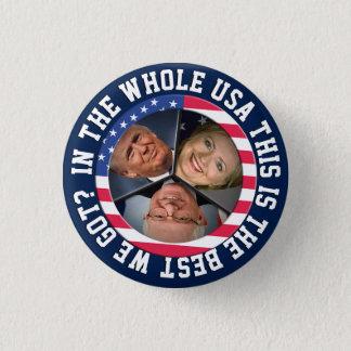 Chapa Redonda De 2,5 Cm Bernie, Hillary y triunfo