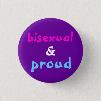 Chapa Redonda De 2,5 Cm Bisexual y orgulloso
