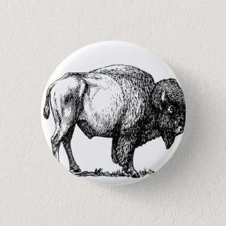 Chapa Redonda De 2,5 Cm Bisonte americano del búfalo