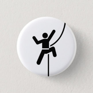 """Chapa Redonda De 2,5 Cm """"Botón del pictograma de la escalada"""""""