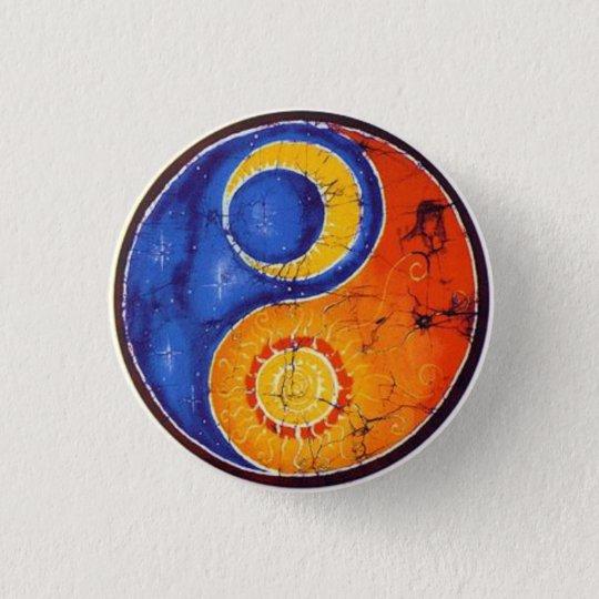 Chapa Redonda De 2,5 Cm Boton Yin Yang
