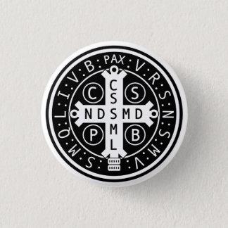 Chapa Redonda De 2,5 Cm Botones de la medalla del St. Benedicto, todos los