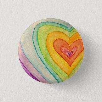 Chapa Redonda De 2,5 Cm Botones del arte de los corazones de Frienship del