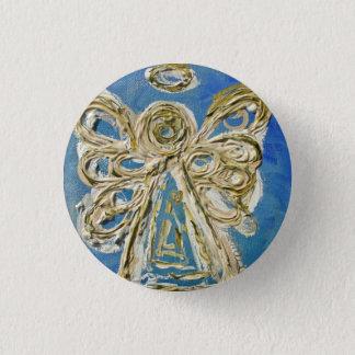 Chapa Redonda De 2,5 Cm Botones, pernos, o colgantes azules del ángel de
