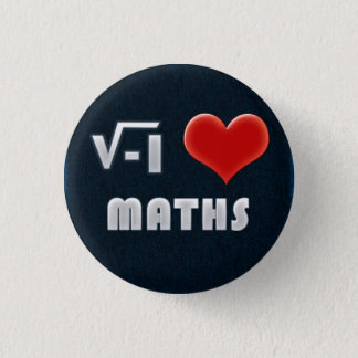 Chapa Redonda De 2,5 Cm Button I LOVE MATHS