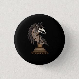 Chapa Redonda De 2,5 Cm Caballero negro