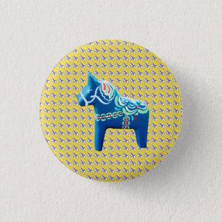 Chapa Redonda De 2,5 Cm Caballo azul de Dala