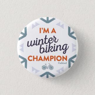 Chapa Redonda De 2,5 Cm Campeón Biking del invierno - pequeño Pin