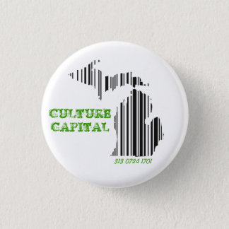 Chapa Redonda De 2,5 Cm Capital de la cultura