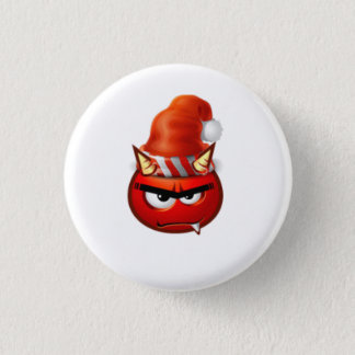 Chapa Redonda De 2,5 Cm cara del navidad del muchacho del infierno