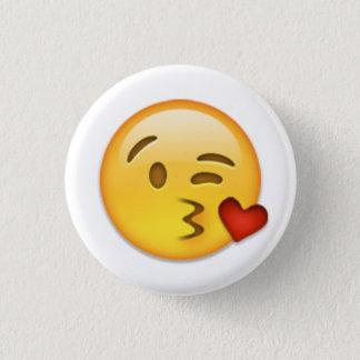 Chapa Redonda De 2,5 Cm Cara Emoji del beso