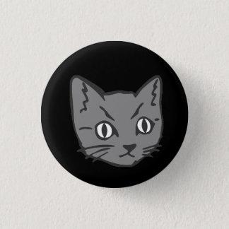 Chapa Redonda De 2,5 Cm Cara gótica del gato del gatito