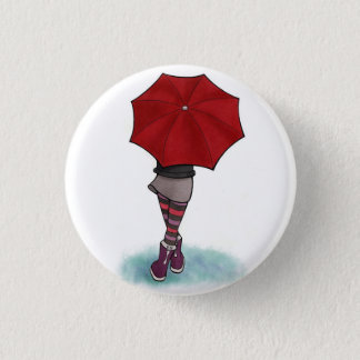 Chapa Redonda De 2,5 Cm chica con paraguas