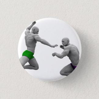 Chapa Redonda De 2,5 Cm Concepto de los artes marciales para luchar y la