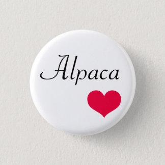 Chapa Redonda De 2,5 Cm Corazón de la alpaca