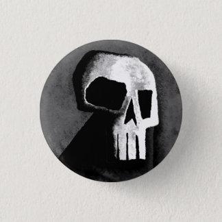 Chapa Redonda De 2,5 Cm Cráneo 15-Grey