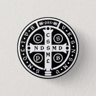 Chapa Redonda De 2,5 Cm Cruz de la medalla del St. Benedicto