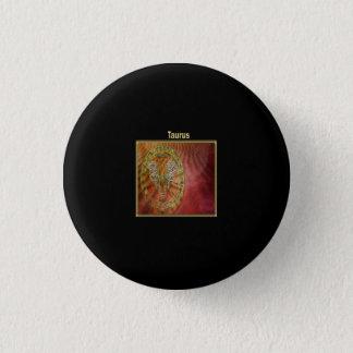 Chapa Redonda De 2,5 Cm Diseño de la astrología del zodiaco del tauro