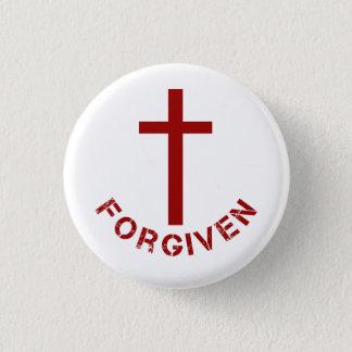 Chapa Redonda De 2,5 Cm Diseño perdonado cristiano de la Cruz Roja y del