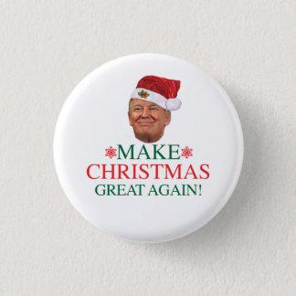 Chapa Redonda De 2,5 Cm Donald Trump - haga el navidad grande otra vez