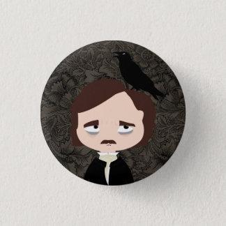 Chapa Redonda De 2,5 Cm Edgar Allan Poe