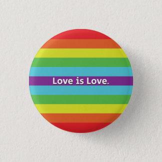 Chapa Redonda De 2,5 Cm El amor es amor