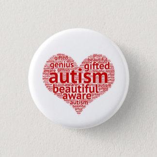 Chapa Redonda De 2,5 Cm El autismo es hermoso